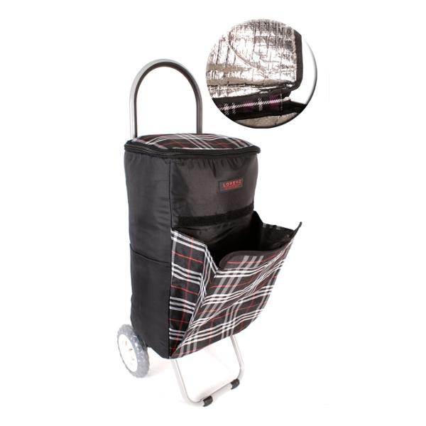 5072a3fbb12b4 Čierna vzorovaná nákupná taška
