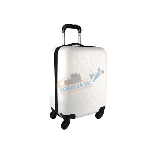 be4d483363fc3 Biely škrupinový cestovný kufor