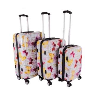 ba220c167c581 Sada 3 bielych škrupinových cestovných kufrov