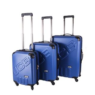 b634170a6ae32 Sada 3 modrých škrupinových cestovných kufrov